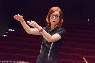 "Conducting, ""Binsfeld's Demons"", October 2014. Photo by Hislop."