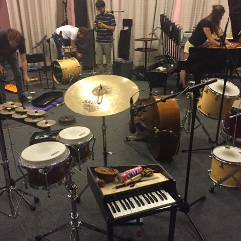 EMS in the recording studio. December 2015.
